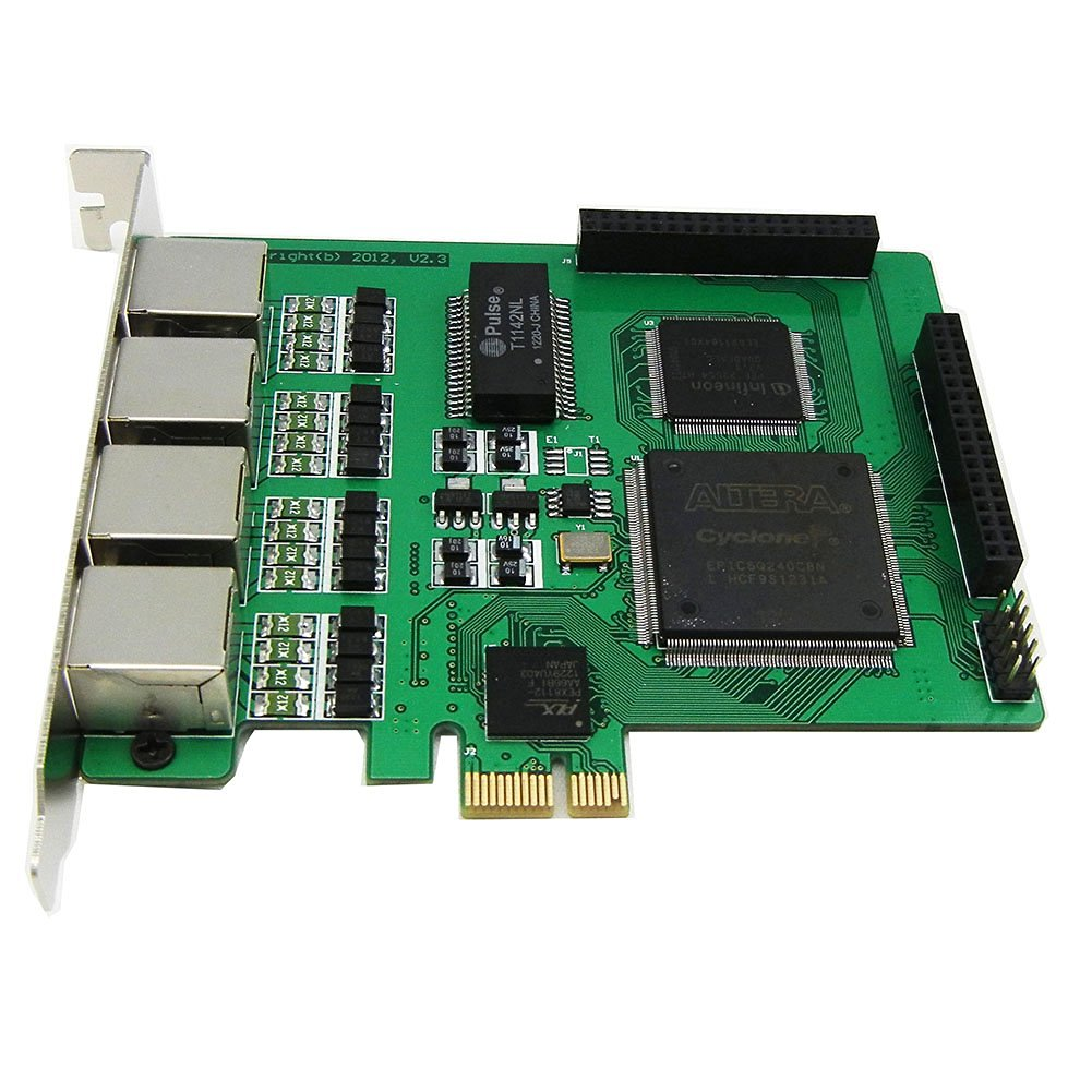 Quad Spans Selectable E1 or T1 Pcie Card Suitable for Asterisk Based Applications