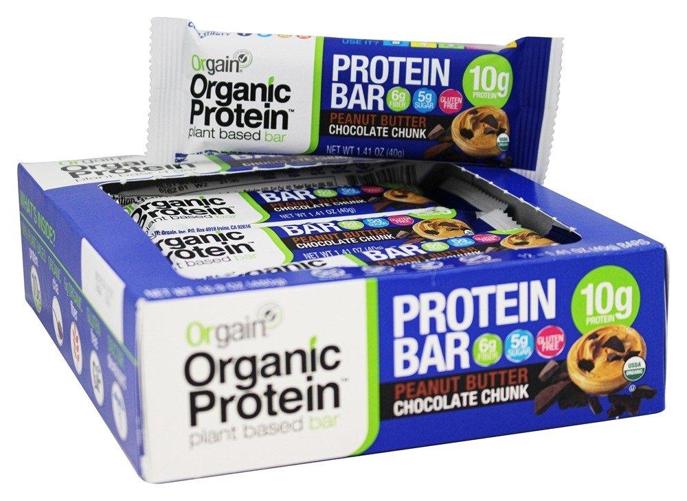Orgain - Organic Protein Plant Based Bar Peanut Butter Chocolate Chunk - 12 Bars