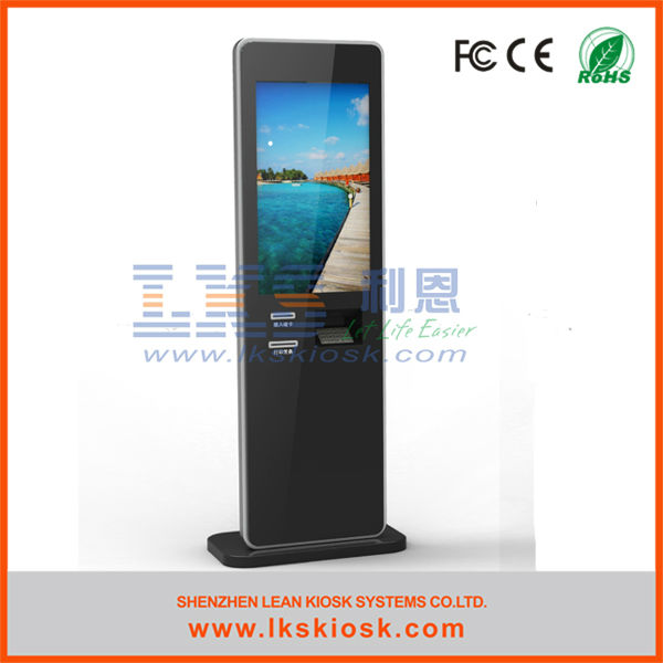 "55"" touch screen kiosk for queue management system"