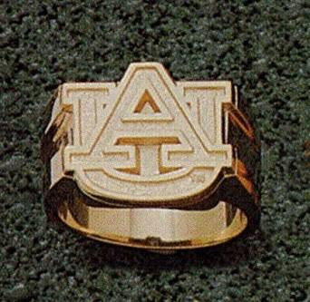 "Auburn Tigers ""AU"" 5/8"" Men's Ring Size 10 1/4 - 10KT Gold Jewelry"