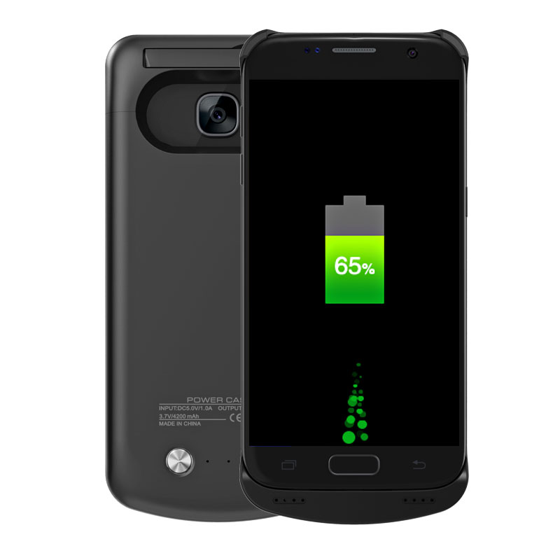 Unique Portable 4200Mah External Backup Battery Charger Cover Rechargeable Extended Power Bank Case Pack for Samsung Galaxy S7