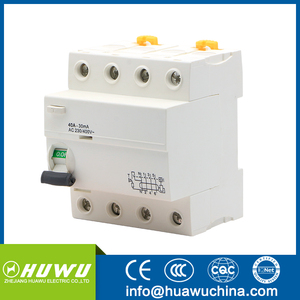 New type Hot selling 2P 4P RCD circuit breaker 4p 40A30ma RCD circuit Nhp Rcd Wiring Diagram on