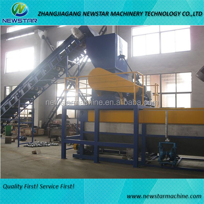Sale waste plastic pet bottle recycling fiber machinery