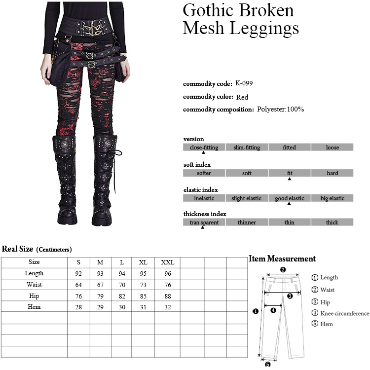 K-099 Gothic leggings sexy PUNK RAVE Elastic leggings for women