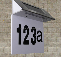 Solar Powered House Address Number light / LED Doorplate Numbered / Outdoor Gate Nightlight