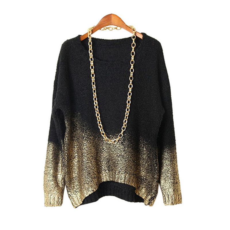 Women font b Winter b font Sweater 2016 Woman Clothing Autumn Fashion Pullovers Knitted Black Batwing