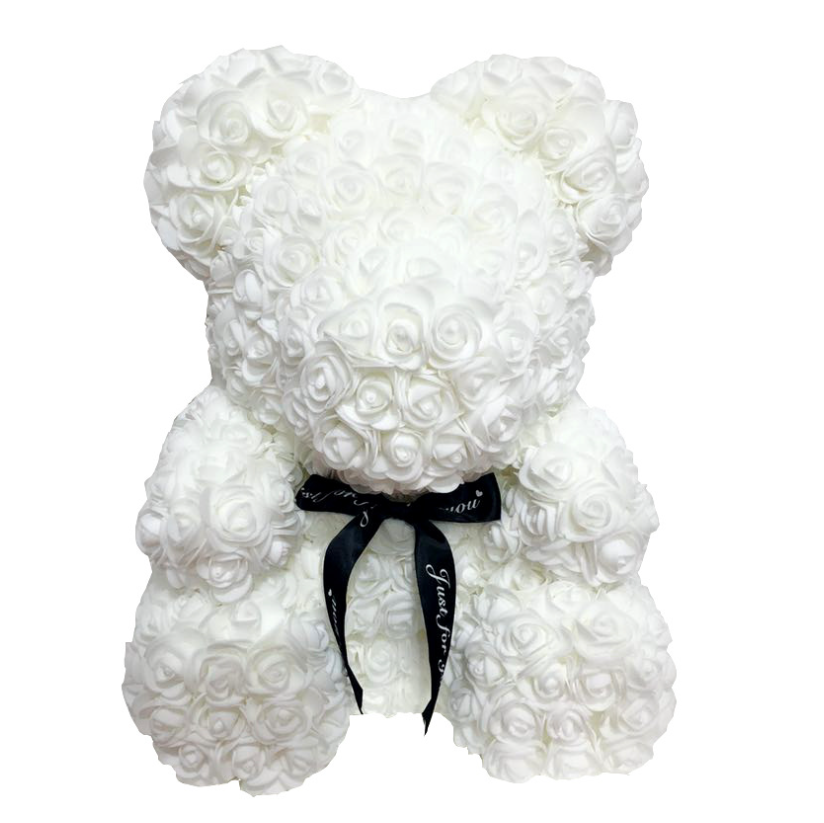 Women Valentine's Day Gift Wedding Decoration Wholesale PE Flowers 40cm Red Rose Foam Bear Rose Gifts