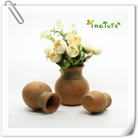 red clay indoor home flower vase