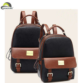 Wholesale Fashion Plain Black Backpack,Cute Girls School Backpack ...
