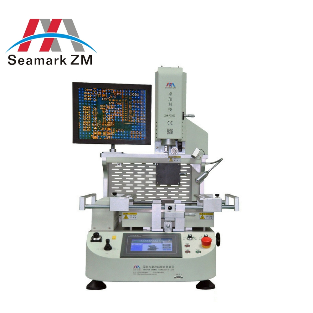 Zhuomao ZM R6200 Semi-Automatic BGA 3 zone Rework Station Optical aignment system for laptop motherboard repair service