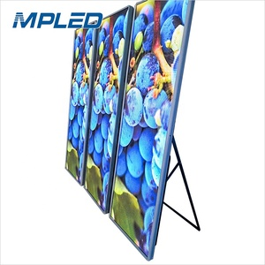Full color Indoor Commercial floor stand Ultra Thin Digital Advertising Poster LED Display