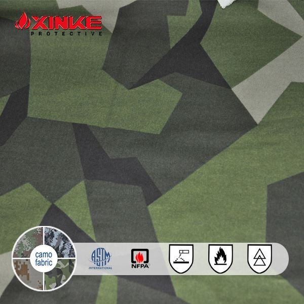 military camouflage anti-flame cloth