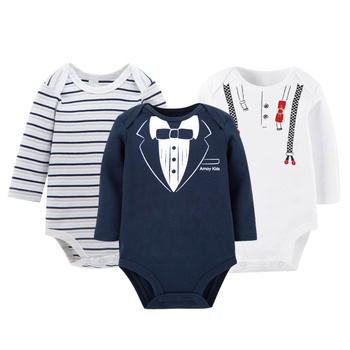 Best 3pcs/lot Baby Bodysuit Newborn Baby Jumpsuit Long Sleeve Cotton Autumn Winter New Arrival Baby Clothes