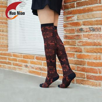 d891cb8f75d Custom Fashion Design Thigh High Socks Women Sexy Printed Thigh High Socks