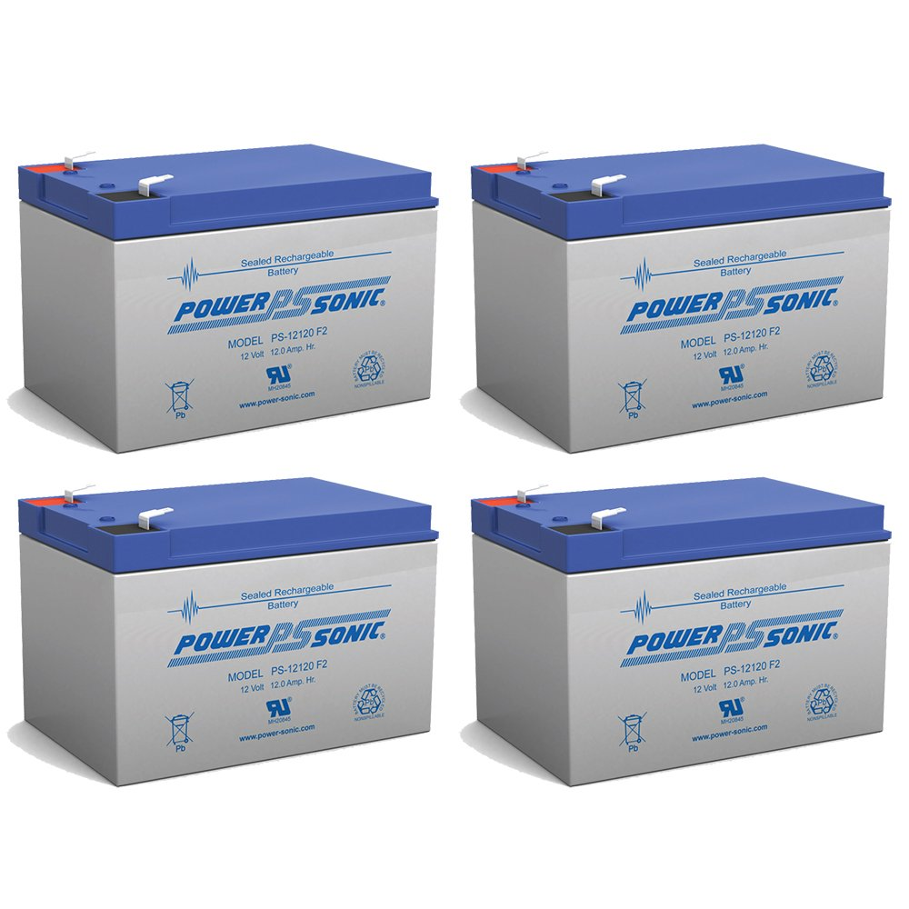 BATTERY REPLACEMENT for POWER-SONIC PS-12120F2 PS-12120 F2,12V 12AH EA 2 Pack