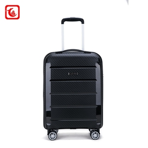 3 Pieces Set PP travel trolley luggage suitcase with zipper