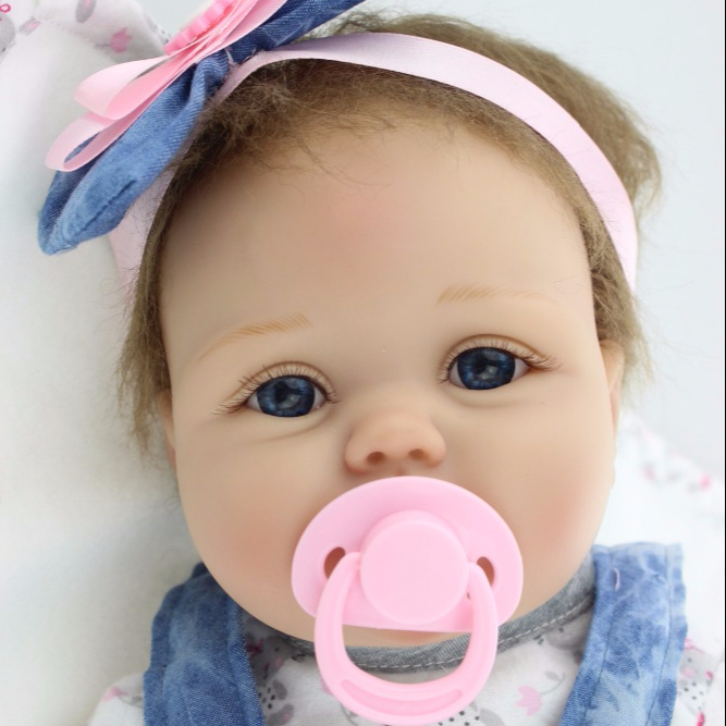Free shipping lifelike soft silicone vinyl real gentle touch 22inch reborn baby <strong>doll</strong>