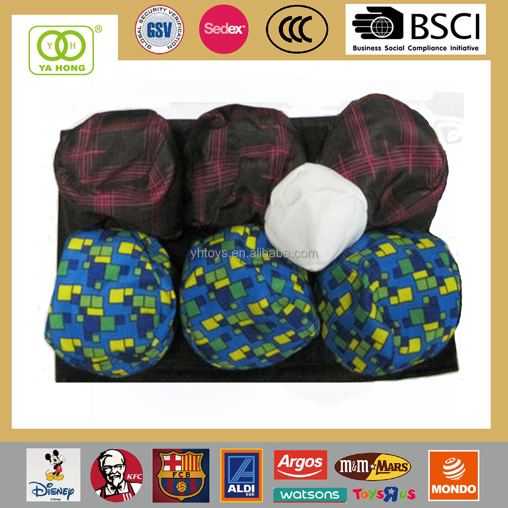 Human mini sandbag for kids training Boccia ball filled with sand or plastic bean