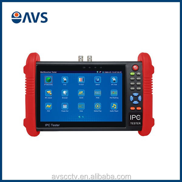 IPC 9800 7 Inch 1280*800 Touch Screen Camera Tester for CCTV Camera