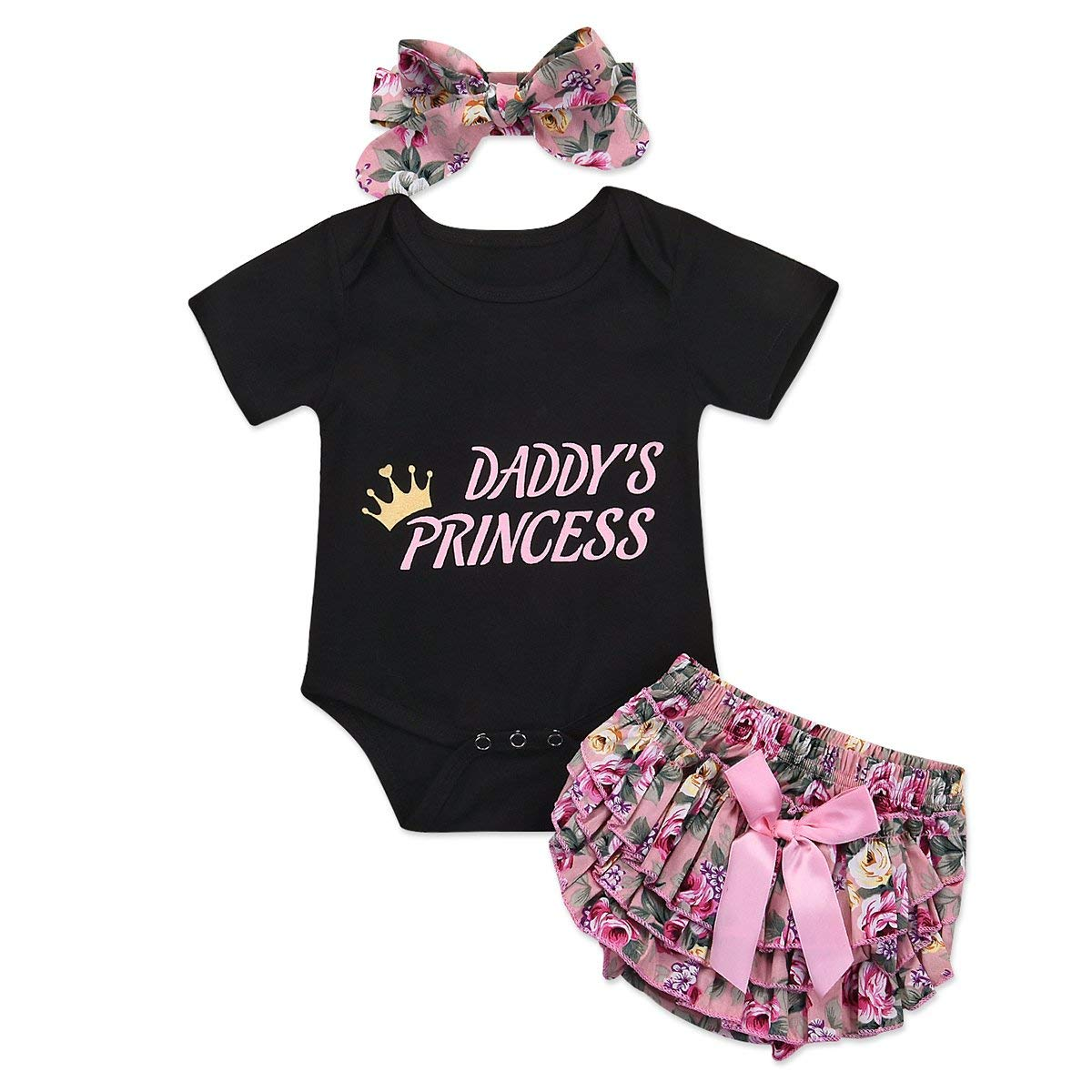 Infant Baby Girls Bodysuit Short-Sleeve Onesie Aikido Japanese Print Outfit Autumn Pajamas