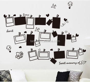 Photo frame wall sticker adesivo parede wandsticker wandaufkleber sticker mural autocollant mural
