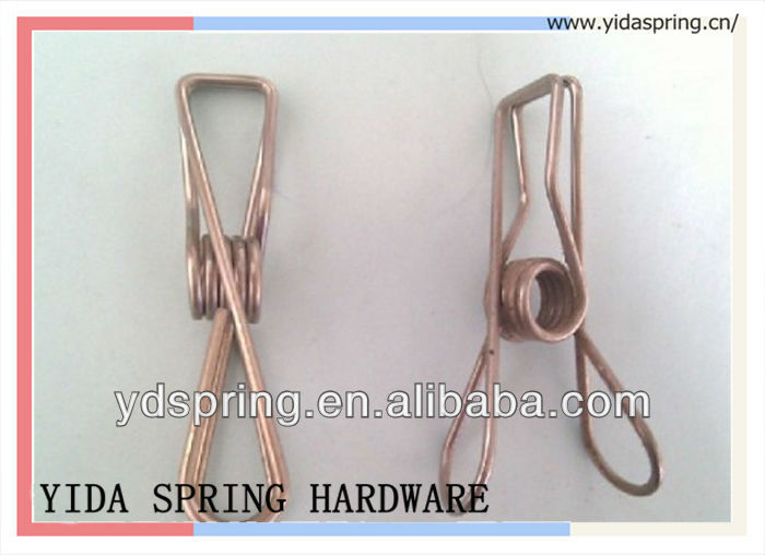 Metal electrical wire s shaped steel spring clip
