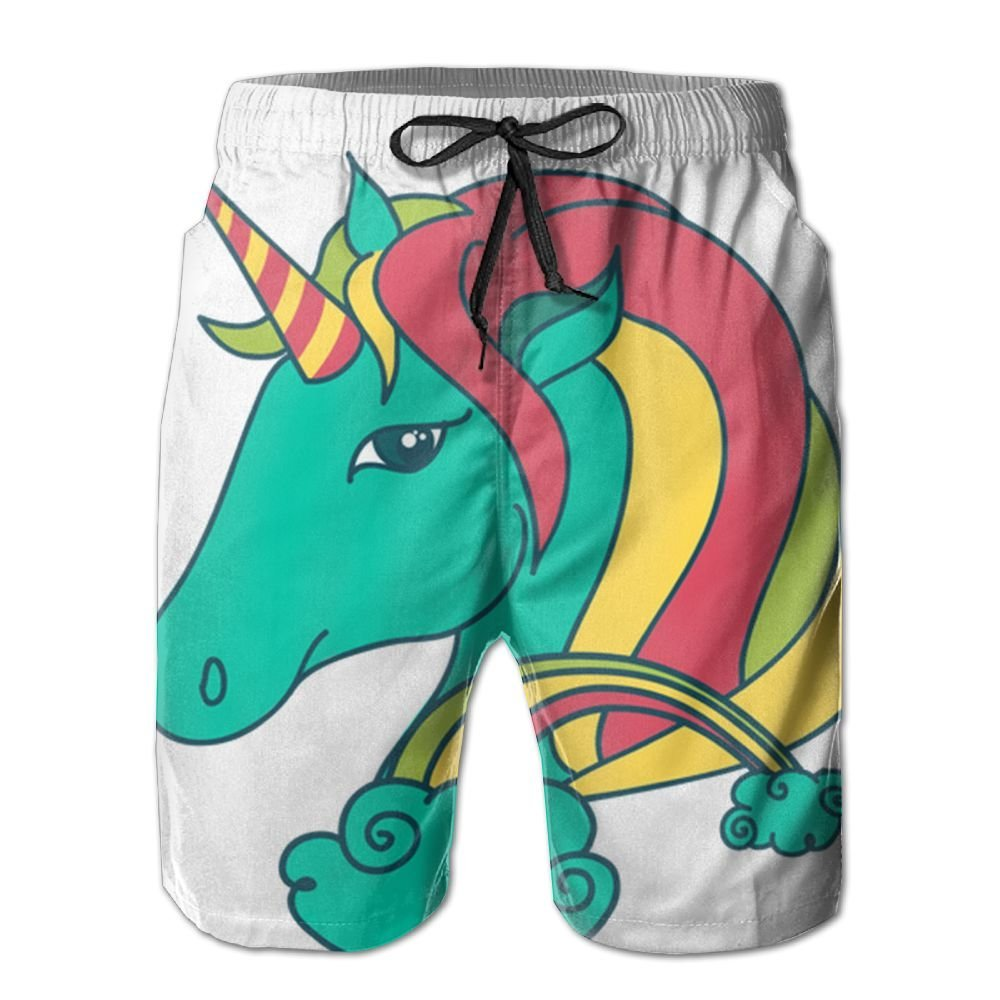 SG ULTIMATE INNO Men's Unicorn-animal Swim Trunks Beach Shorts With Pockets