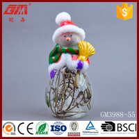 European style cleaning christmas snowman crafts with dry vine