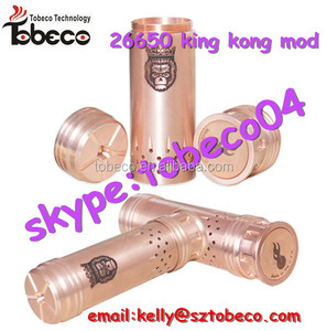 Mechanical clone copper 26650 king kong mod king mod with fast delivery