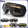 BJ-GT-011 Aftermarket Adult Black Leather Helmet Glasses Motorbike Goggles