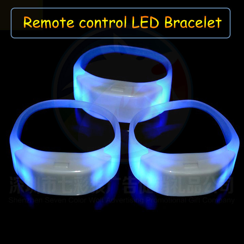 Radio Controlled LED Silicon  Bracelets For Anime Expo Party Very Bright At Night And Unisex Remote Control Flash LED Bracelet