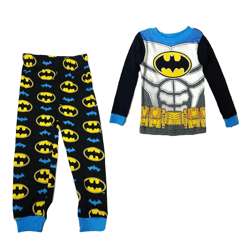 c12764c949 Get Quotations · DC Comics Batman Little Boys  New Look Long Sleeve Pajamas  Cotton Pajamas Tight Fit