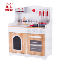 Kids pretend kitchen cooking game children wooden kitchen toy play set for baby