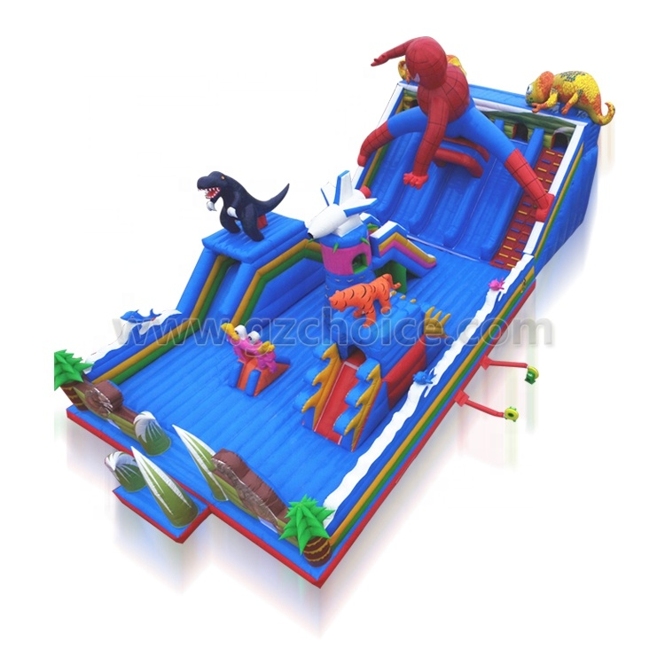 Outdoor Kids Funcity Jumping Bouncer Inflatable Castle Slide Combo Inflatable Playground