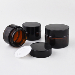 5ml 10ml 20ml 30ml 50ml 60ml 100ml cosmetic cream glass jar