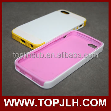 New design 3D sublimation 2 in 1 TPU+PC phone case for iphone 5