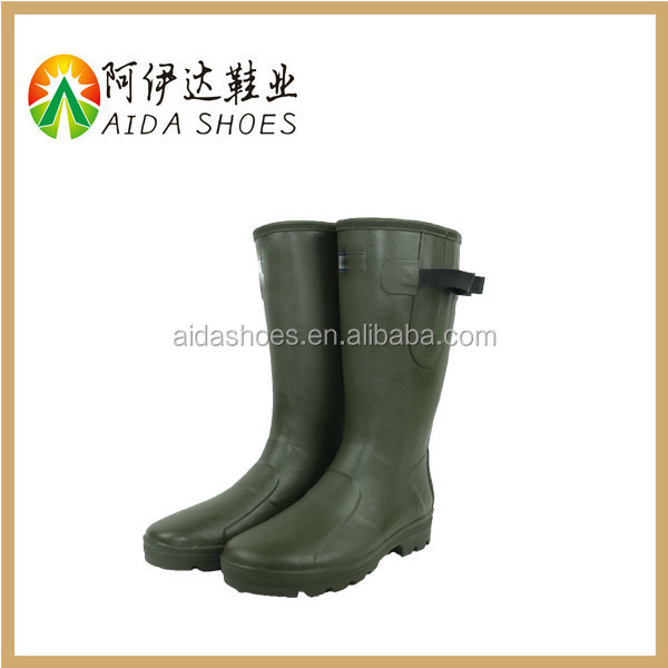 High Quality Waterproof mens long Neoprene Safety Boots