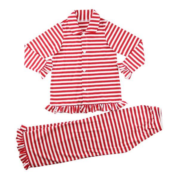 546f32e7da Winter fall boutique kids night sleepwear family children pjs button up red  shirt Christmas clothing white