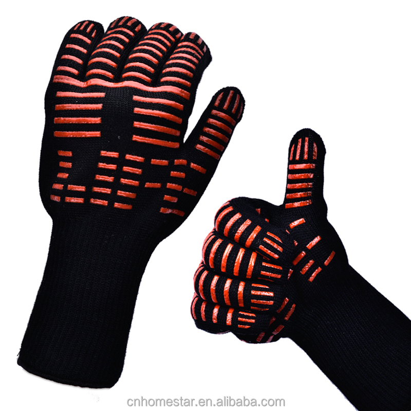 Silicon Kitchen barbecue oven <strong>Glove</strong> Long high temperature fire GlovesSafety <strong>gloves</strong>