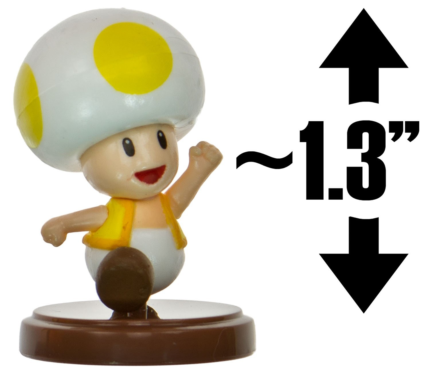 """Toad [Yellow] ~1.3"""" Mini Figure [New Super Mario Bros. Wii Choco Egg Series - NO CANDY] (Japanese Import)"""
