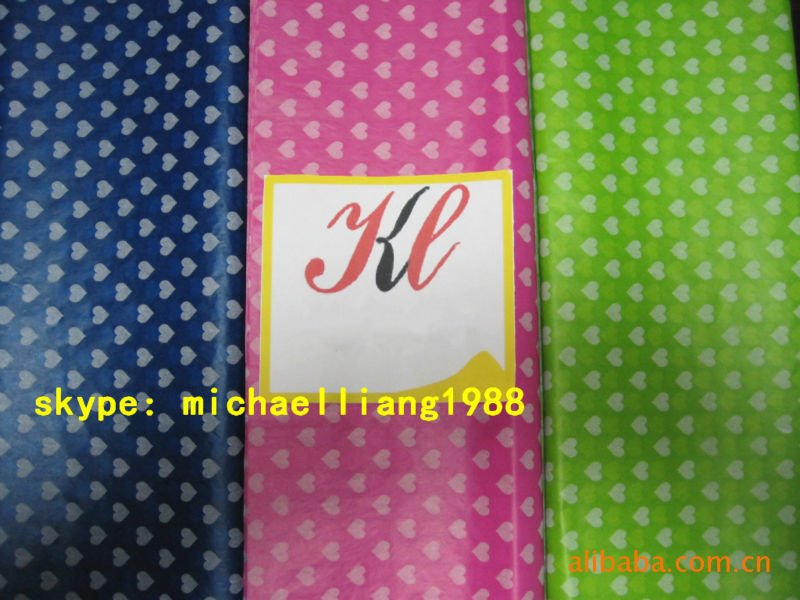 Custom printed wrapping tissue paper for Shoes, Garment