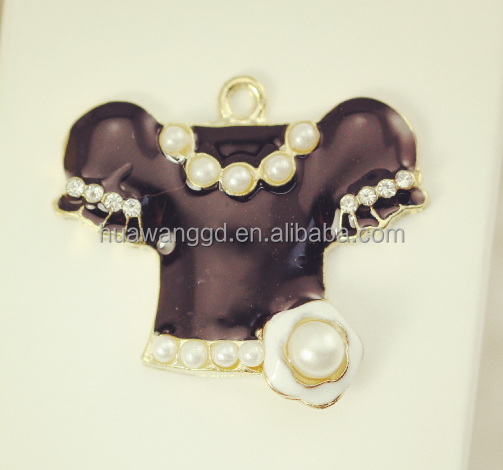 High quality zinc alloy black women's clothes pendants,large size clothes,small size clothes