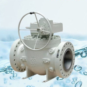 Class 300 Worm Gear Operated 3PCS Stainless Steel 316 Ball Valve