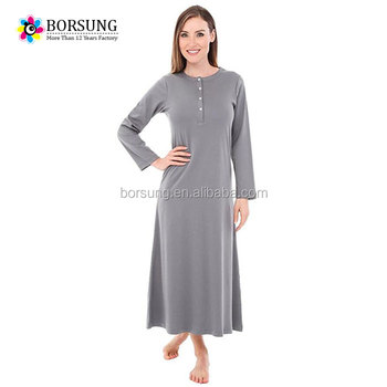 Beautiful Dubai Fancy Kaftan Women latest gown long sleeve nighty designs  good fabric women night dress 9222ac8f10