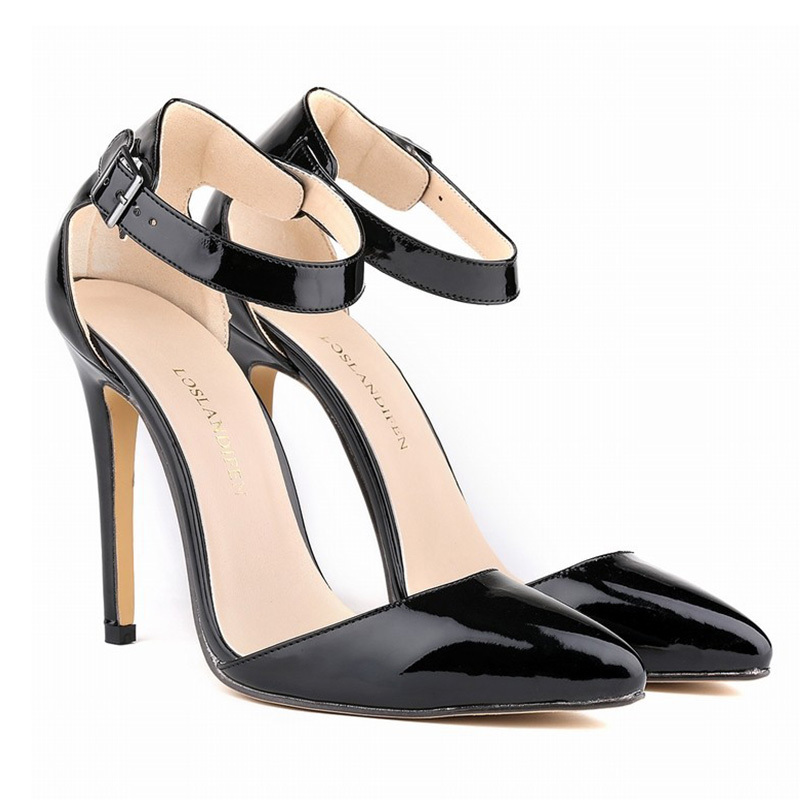 8778709e6ef1 Get Quotations · 2015 New Brand Shoes Women Pointed Toe Women Pumps Patent  Leather Red Bottom High Heels Shoes
