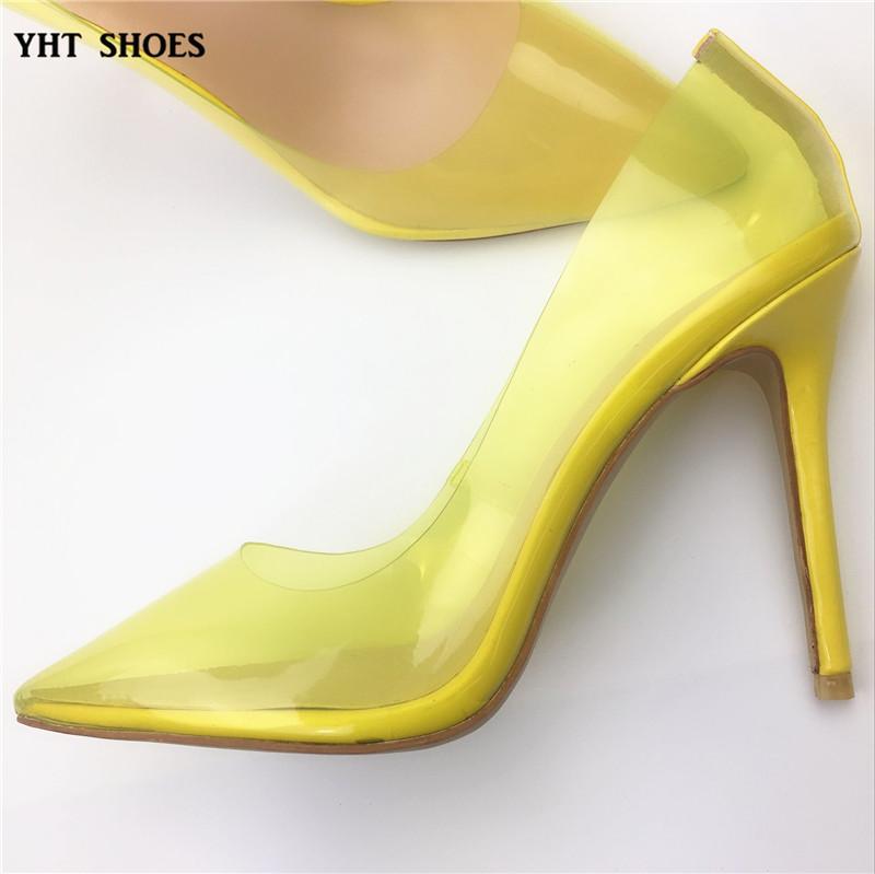 aeb08ec3243 Fancy Girls Branded Transparent Perspex Clear Stiletto Yellow Heel Shoes -  Buy Fancy High Heel Shoes,Beauty Girls High Heel Shoe,Ladies High Heel ...