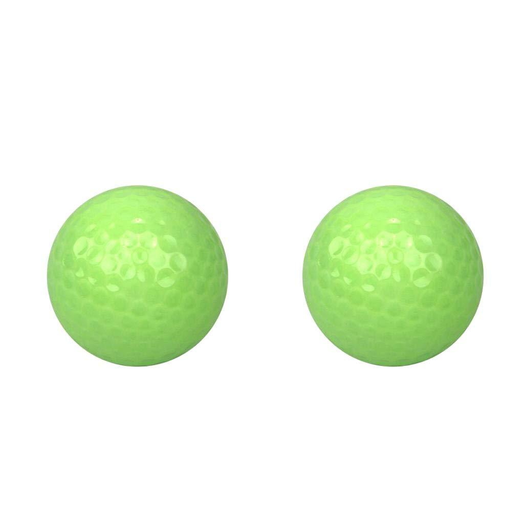Homyl 2Pcs Golf Luminous Ball Training Fluorescent Tournament Balls Bright in Dark