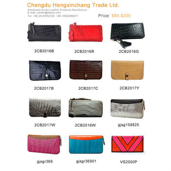 luxury leather wallets for women crocodile wallet manufacturers handmade purse wallet bag