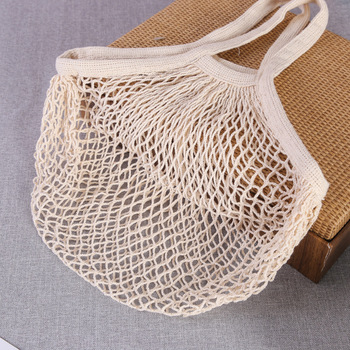 totes large tote bags Cotton Net Shopping Tote Ecology Market String Bag Simple Ecology washable and reusable Cotton bags 3 Pack