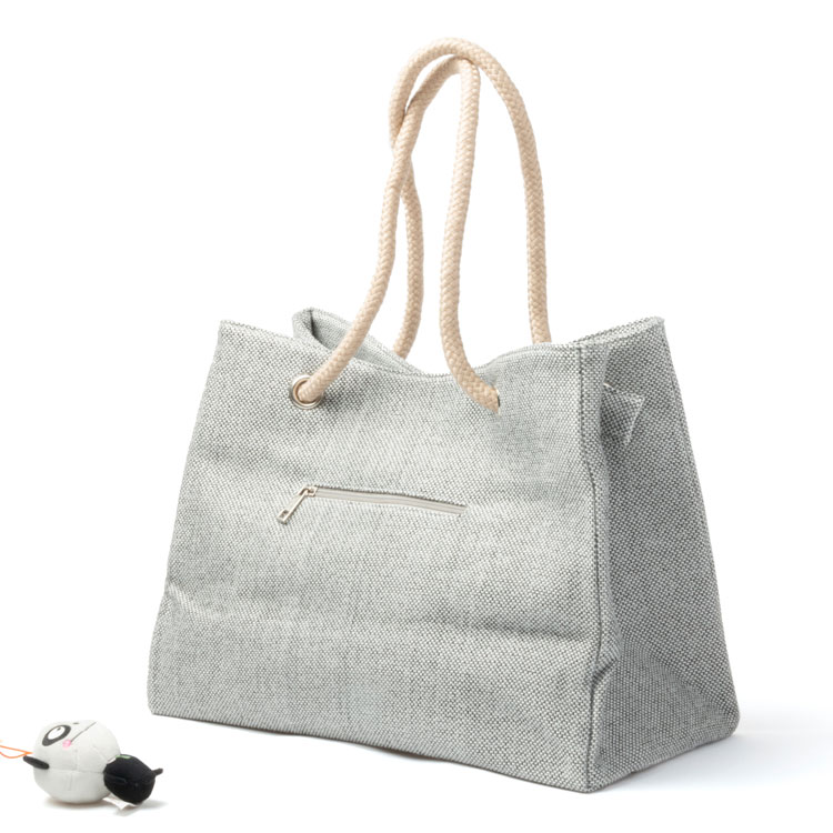 Newest plain canvas tote bag high quality woman handbag wholesale